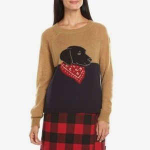 Woolrich Black Lab with Bandana Wool Sweater